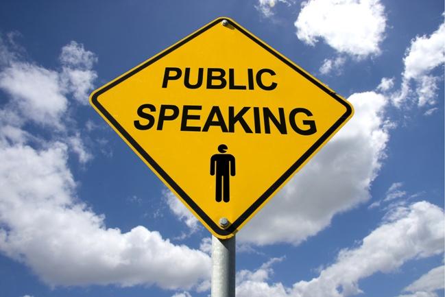 Public Speaking Ahead!